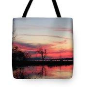 God's Hand On The Lake Tote Bag