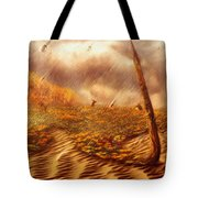 Gods Hand Painting With Life Tote Bag