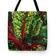 God's Kitchen Series No 7 Swiss Chard Tote Bag
