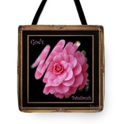 God's Paintbrush With Gold Frame Tote Bag
