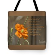 God's Peace Tote Bag