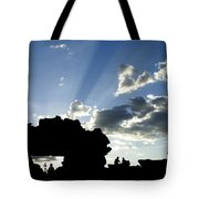 God's Rays At La Fenetre Tote Bag