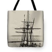 Godspeed At Port In Jamestown Tote Bag