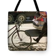 Going Against Traffic Tote Bag