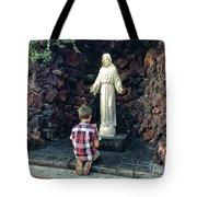 Going Before The Sacred Heart Of Jesus Tote Bag