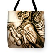 Going Down Fighting Tote Bag