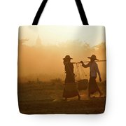 Going Home At Sunset Tote Bag