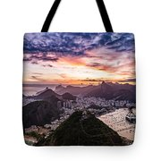 Going Up The Cable Car In Rio De Janeiro Tote Bag
