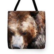 Bear // Gold Tote Bag by Amy Hamilton