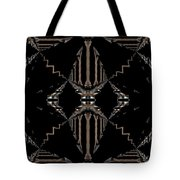 Gold And Black With Silver Design Abstract Tote Bag