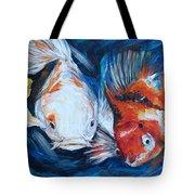 Gold And Koi Fish 1 Tote Bag