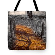 Gold And Orange Path Tote Bag