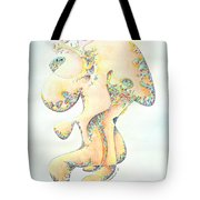 Gold Bejeweled Fertility Goddess Tote Bag