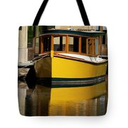 Gold Boat Reflects Tote Bag