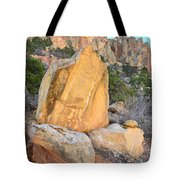 Gold Boulder Tote Bag