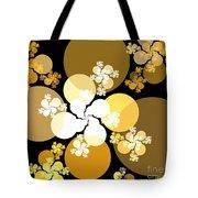 Gold Brown Spheres Tote Bag