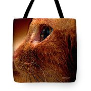 Gold Cat Profile Tote Bag