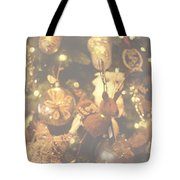 Gold Christmas Tree Decorations Tote Bag