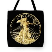 Gold Coin Front Tote Bag