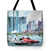 Gold Cup Race On Detroit River Tote Bag