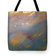Gold Dust Abstract Painting Tote Bag by Julia Apostolova
