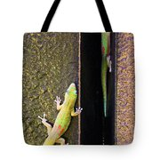 Gold Dusted Day Gecko Tote Bag