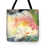 Gold Fish With Purple Tote Bag