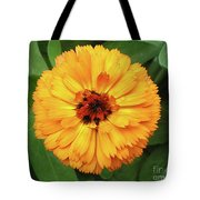 Gold Flower Tote Bag