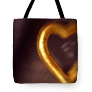 Gold Heart Mirror Tote Bag