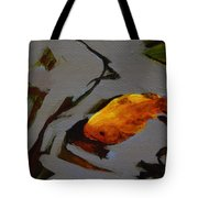 Gold In The Pond Tote Bag