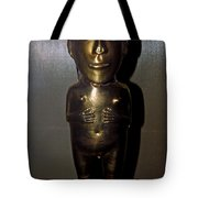 Gold Indian Statue Tote Bag