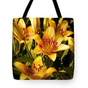 Gold Lilly Tote Bag