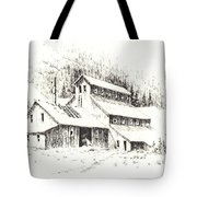 Gold Mine Cable Ghost Town Montana Tote Bag