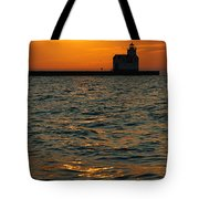 Gold On The Water Tote Bag by Bill Pevlor