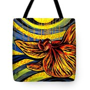 Gold Orchid Tote Bag