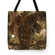 Gold Owl Tote Bag