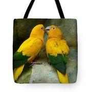 Gold Parakeets Tote Bag
