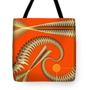 Gold Pipes Tote Bag