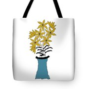 Gold Pointed Flowers Tote Bag