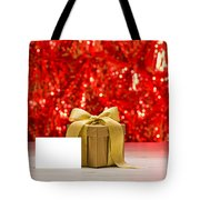 Gold Present With Place Card  Tote Bag