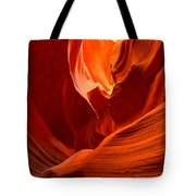Gold Red And Orange Abstract Tote Bag