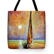 Gold Sail Tote Bag