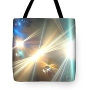 Gold Star Beams Tote Bag