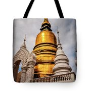 Gold Stupa Tote Bag