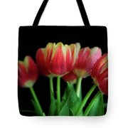Gold Tip Tulips Tote Bag by Tracy Hall