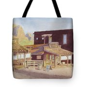 Gold Town By Superstition Mountains Tote Bag