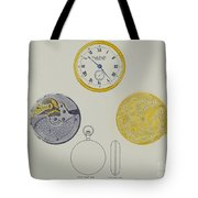 Gold Watch With Frame And Case Tote Bag