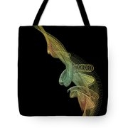 Gold Wire Abstract Tote Bag