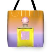 Gold Yellow Art Deco Perfume Tote Bag
