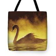 Golden African Swan Tote Bag